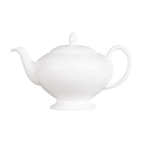 Wedgwood White Fine Bone China Leigh Teapot