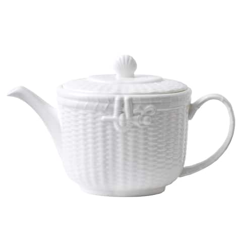 Nantucket Basket 2.1-pt Fine Bone China Teapot