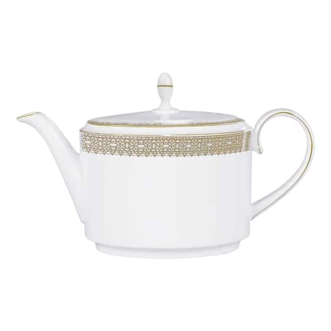 Vera Lace Gold 1.4-ltr Fine Bone China Teapot