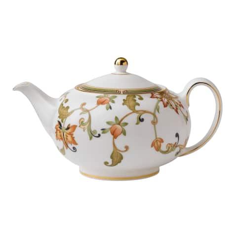 Oberon 1.4-pt Fine Bone China Floral Teapot