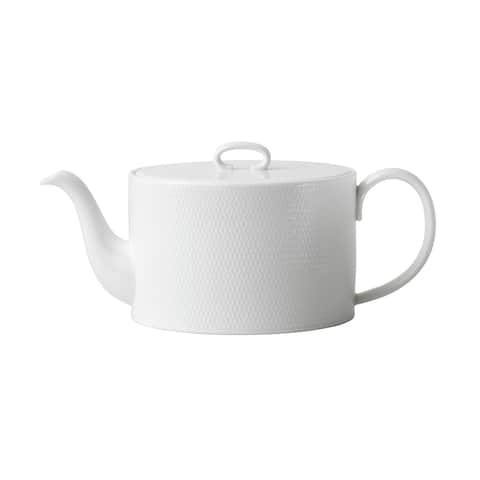 Gio White Fine Bone China Distinctive Texture Teapot