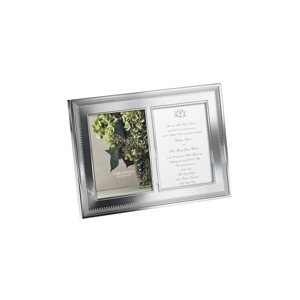 Grosgrain 5x7 Double Invitation Metal Frame