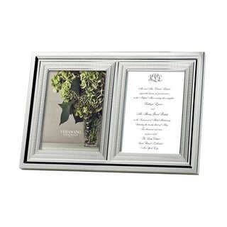 With Love 5x7 Metal Double Invitation Frame