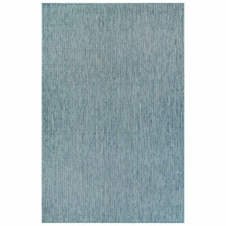 Liora Manne Texture Stripe Indoor/Outdoor Rug Aqua