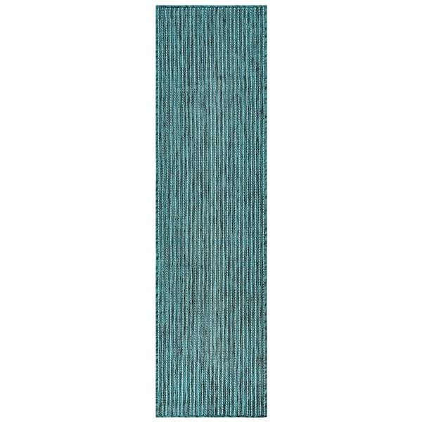 Liora Manne Carmel Texture Stripe Indoor/Outdoor Rug Teal