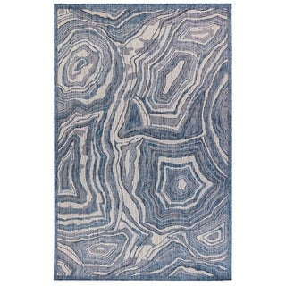 Link to Liora Manne Agate Indoor/Outdoor Rug Navy Similar Items in Farmhouse Rugs