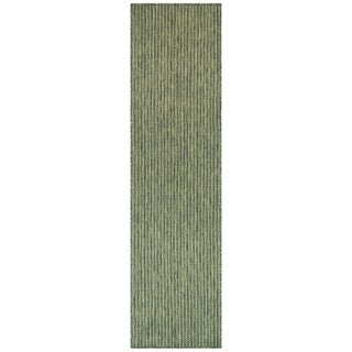 Liora Manne Carmel Texture Stripe Indoor/Outdoor Rug Green