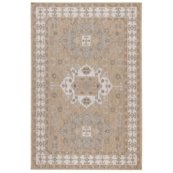 Shop Porch & Den Roy Kilim Indoor/Outdoor Rug Neutral
