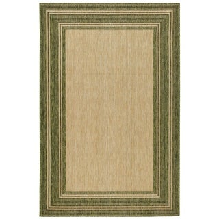 Liora Manne Carmel Multi Border Indoor/Outdoor Rug Green