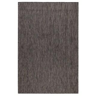 Liora Manne Carmel Texture Stripe Indoor/Outdoor Rug Black