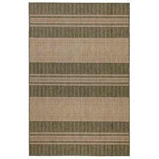 Liora Manne Carmel Stripe Indoor/Outdoor Rug Green