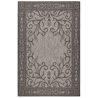 Liora Manne Carmel Mosaic Indoor/Outdoor Rug Black