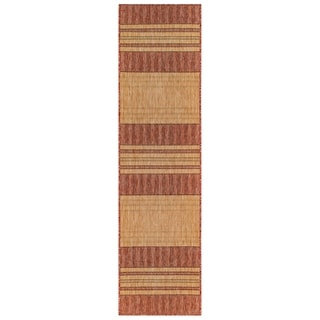 Liora Manne Carmel Stripe Indoor/Outdoor Rug Red