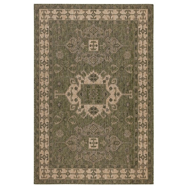 Shop Liora Manne Mosaic Indoor Outdoor Rug Teal Free Shipping
