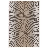 Liora Manne Carmel Animal Print Zebra Indoor/Outdoor Rug Sand