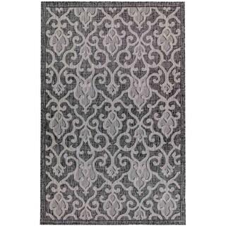 Liora Manne Carmel Baroque Indoor/Outdoor Rug Black