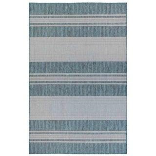 Liora Manne Carmel Stripe Indoor/Outdoor Rug Teal