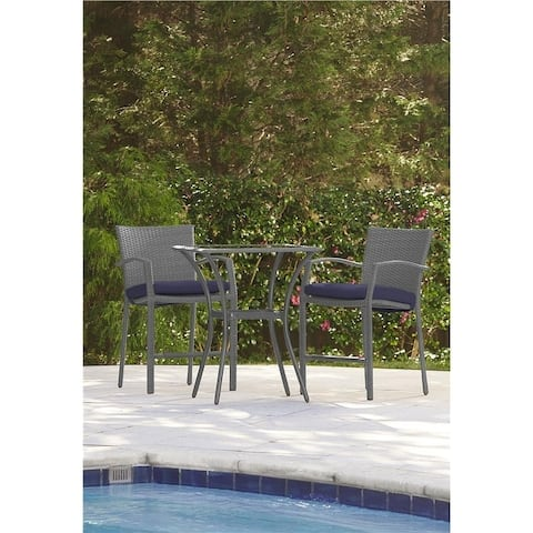 Havenside Home Sandstrom Outdoor 3-piece High-top Woven Wicker Patio Balcony Furniture Set with Cushions