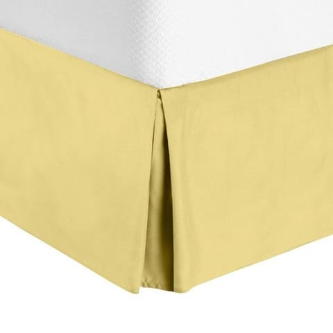 Nestl Bedding Luxury Pleated King Size 14 inch Drop Bed Skirt