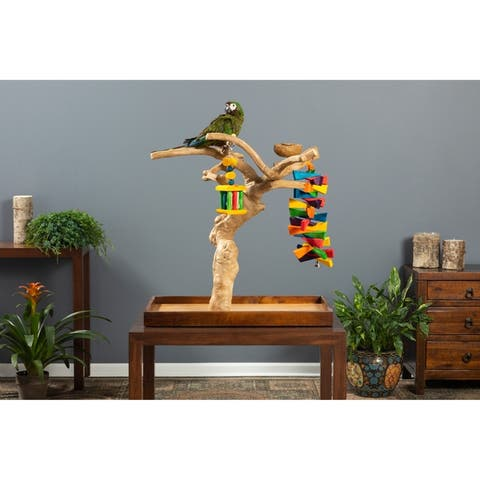 Prevue Pet Products Coffeawood Java Tree Minis Large Table Top Playstand Model 22635