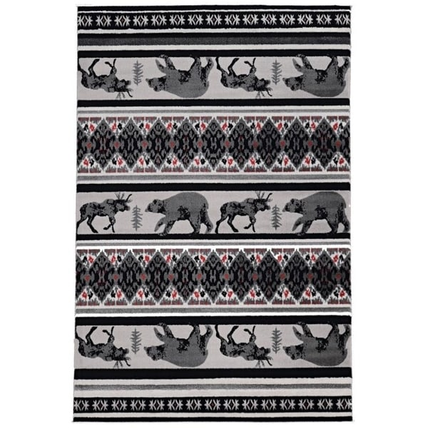 Colorado Carson Grey Area Rug - 2' x 3'