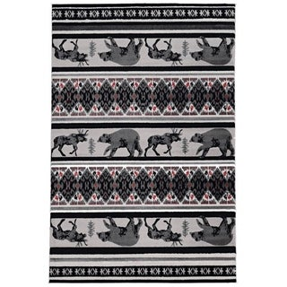 Colorado Carson Grey Area Rug - 3' x 5'