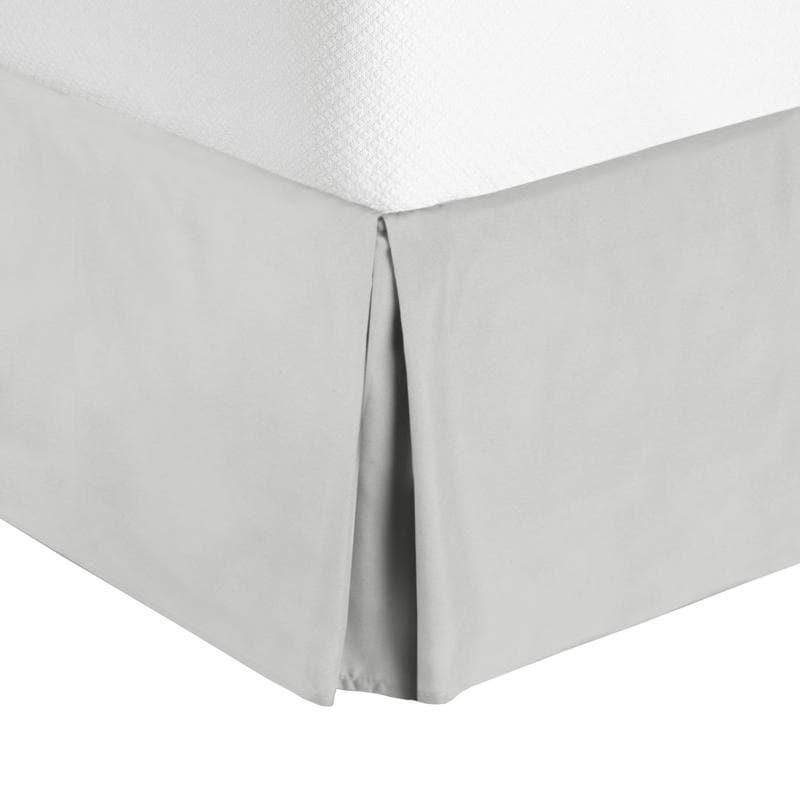 Luxury Microfi Nestl Bedding Pleated Bed Skirt Damask Dobby Stripe Bed Skirt
