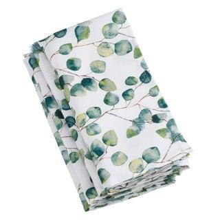 Saro Lifestyle Eucalyptus Leaf-design Napkins (Set of 12)