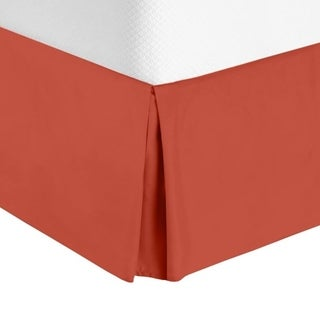 "Nestl Bedding Luxury Pleated Twin Size Bed Skirt - 14"" Drop"