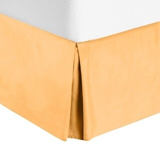 """Nestl Bedding Luxury Pleated Twin Size Bed Skirt - 14"""" Drop"""
