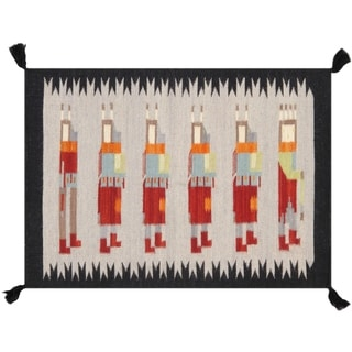 Pasargad Home New Kilim Collection Hand-Woven Area Rug - 2' x 3'