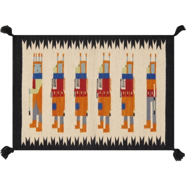 Pasargad Home New Kilim Collection Wool Hand-Woven Area Rug - 2' x 3'