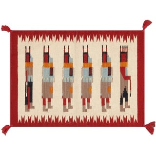 Pasargad Home New Kilim Collection Wool Area Rug - 2' x 3'