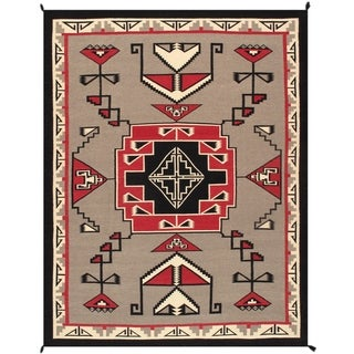 Pasargad Home Kilim Collection Hand-Woven Wool Grey Area Rug - 9' x 12'
