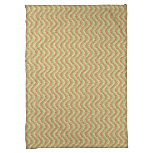 Katelyn Elizabeth Red Yellow Green Wavy Stripe Pattern Fleece Blanket Artic Pro Fleece Multi Overstock 27325729