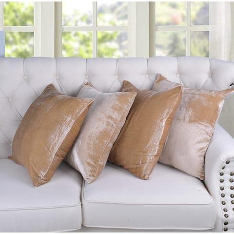 Serenta Velvet Decorative Throw Pillow Cover (set of 4)