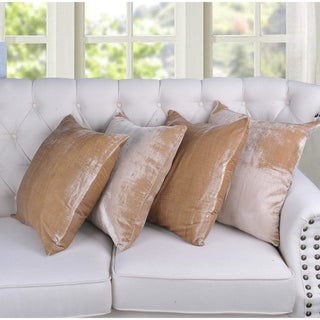 Serenta Velvet Decorative Throw Pillow Cover (set of 4)