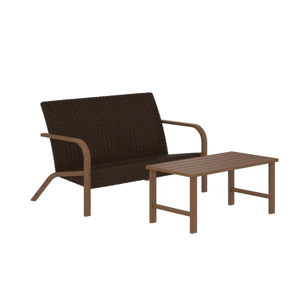 Fantastic Cosco Outdoor Furniture Villa Park Smartdry Patio Furniture Set Loveseat And Coffee Table Download Free Architecture Designs Barepgrimeyleaguecom