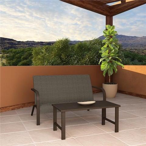 COSCO Outdoor Furniture Villa Park SmartDry Patio Furniture Set Loveseat and Coffee Table