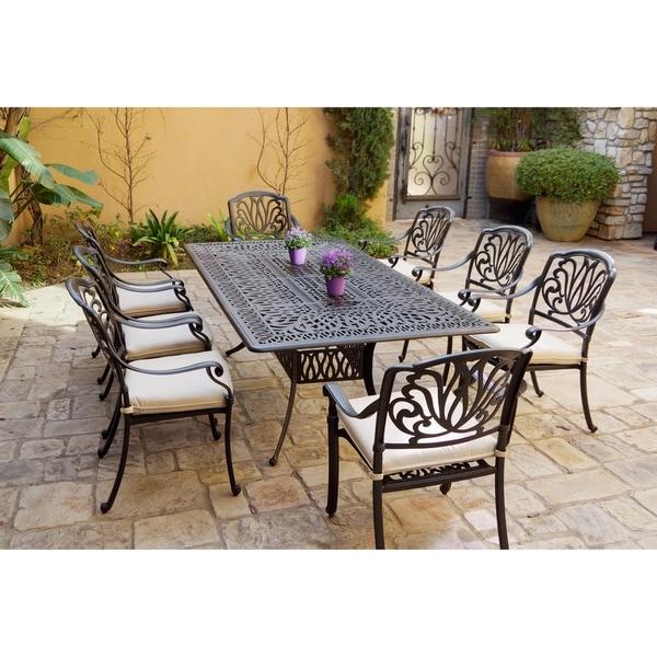 9-Piece Patio Dining Set, 44 X 84 Inch Rectangular Dining Table