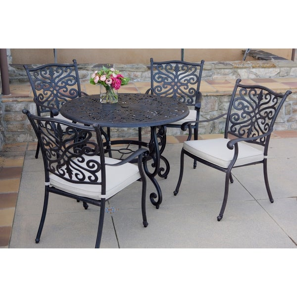 Shop 5-Piece Patio Dining Set, 42 Inch Round Dining Table