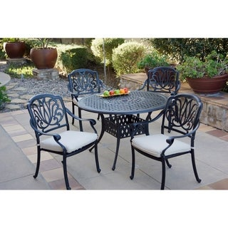 5-Piece Patio Dining Set, 48 Inch Round Dining Table