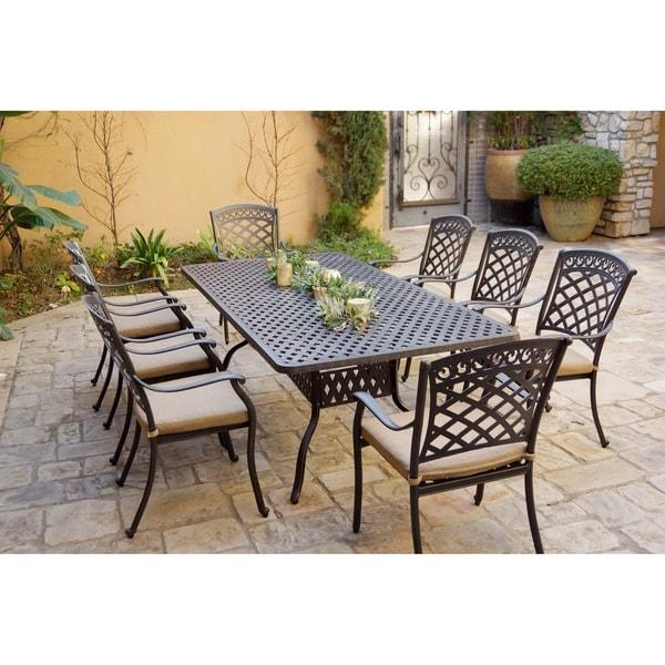 9-Piece Patio Dining Set, 42 X 84 Inch Rectangular Dining Table