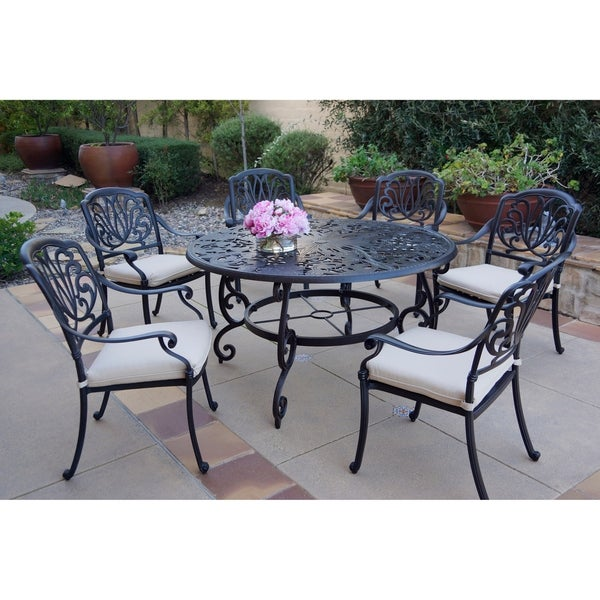 Shop 7 Piece Patio Dining Set 53 Inch Round Dining Table