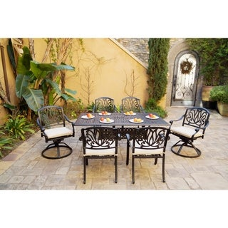 7-Piece Patio Dining Set, 68 X 38 Inch Rectangular Dining Table