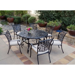 7-Piece Patio Dining Set, 53 Inch Round Dining Table