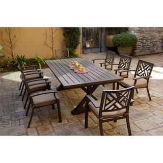 9-Piece Patio Dining Set, 86 X 34 Inch Rectangular Dining Table