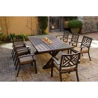 9-Piece Patio Dining Set, 86 X 34 Inch Rectangular Dining Table