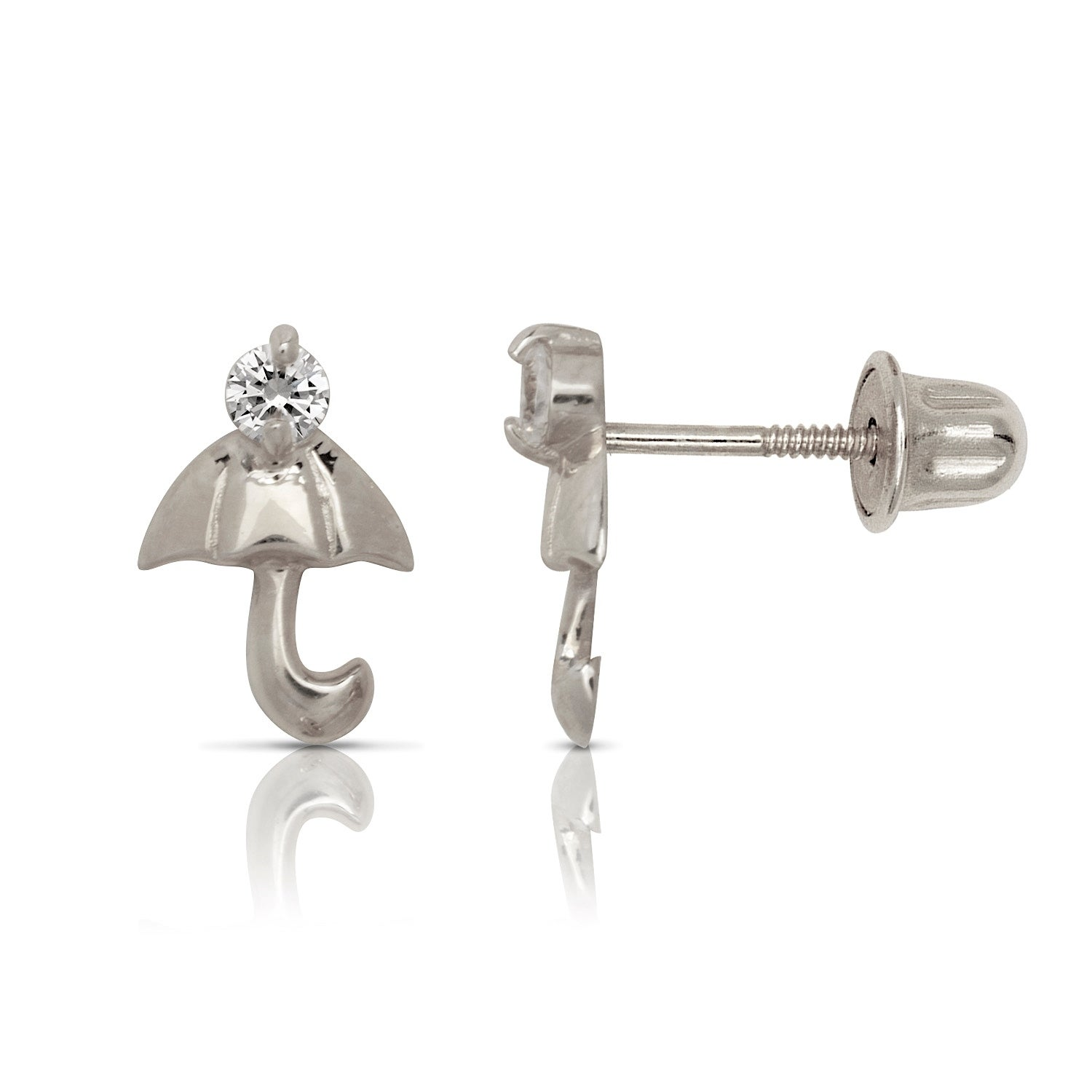 NEW! 14k Solid YELLOW or WHITE Gold CZ Infinity Ear Climber Earrings!!