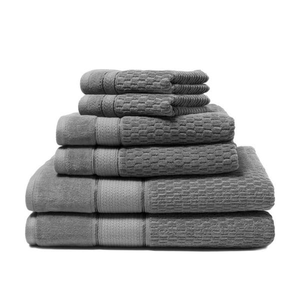 Royale 6 Piece 100 Percent Turkish Cotton Bath Towel Set Overstock 27326558
